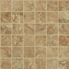 "Piazza 13"" x 13"" Mosaic Tile Accent in Cotto"