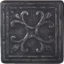 "Heritage Sagebrush Deco 4"" x 4"" Tile Accent in Wrought"