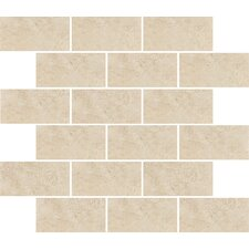 "<strong>Shaw Floors</strong> Padova 10"" x 12"" Subway Mosaic Accent Tile in Beige"