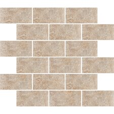"Padova 10"" x 12"" Subway Mosaic Accent Tile in Brown"