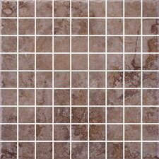 "Capri 12"" x 12"" Mosaic Accent Tile in Walnut"