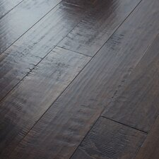 "<strong>Shaw Floors</strong> Acadian Heights 6-3/8"" Engineered Handscraped Maple Flooring in Blackwoods"
