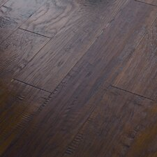 "Panorama 6-3/8"" Engineered Handscraped Hickory Flooring in Majestic View"