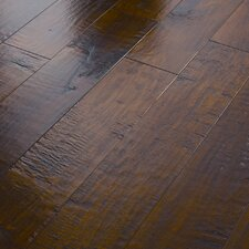 "<strong>Shaw Floors</strong> Acadian Heights 6-3/8"" Engineered Handscraped Maple Flooring in Granite Shores"