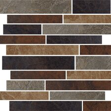 "Domus 13"" x 15"" Random Linear Mosaic Accent Tile in Multi-Color"
