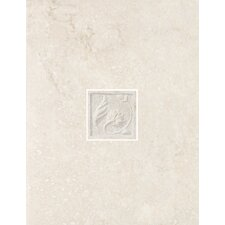 "Padova 13"" x 10"" Decorative Wall Tile in Blanco"