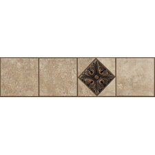 "Soho Listello 12"" x 3"" Tile Accent in Gascogne Beige / Bronze"