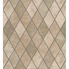 Soho Rhomboid Porcelain Mosaic in Gascogne Beige/Seagrass