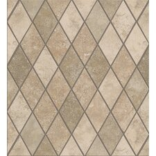 "Soho Rhomboid 12"" x 12"" Tile Accent in Gascogne Beige / Seagrass"