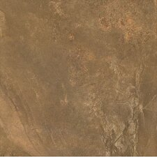 "African Slate 18"" x 18"" Porcelain Tile in Rust"