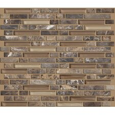Mixed Up Random Sized Linear Mosaic Marble Accent Tile in Dakota