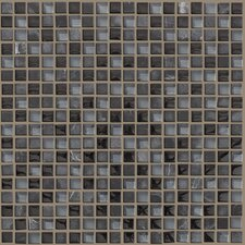 "<strong>Shaw Floors</strong> Mixed Up 12"" x 12"" Mosaic Stone Accent Tile in Black Hills"