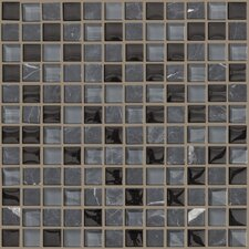"Mixed Up 12"" x 12"" Mosaic Stone Accent Tile in Black Hills"