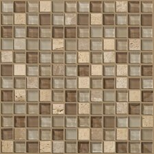 "Mixed Up 12"" x 12"" Mosaic Stone Accent Tile in Canyon"