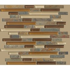 "<strong>Shaw Floors</strong> Mixed Up 12"" x 12"" Random Linear Mosaic Slate Accent Tile in Crested Butter"