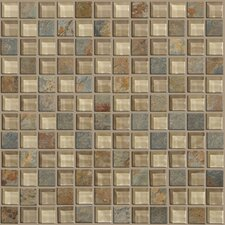 "Mixed Up 12"" x 12"" Mosaic Slate Accent Tile in Denali"