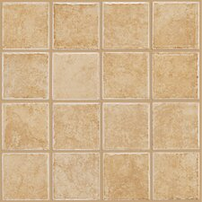 "<strong>Shaw Floors</strong> Colonnade 12"" x 12"" Ceramic Floor Tile in Gold"