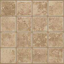"Colonnade 12"" x 12"" Ceramic Floor Tile in Coffee"