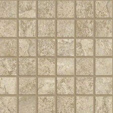 "<strong>Shaw Floors</strong> Augustino 12"" x 12"" Mosaic Tile in Bianco"