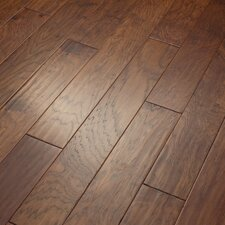 "Camden Hills 5"" Elegant Scraped Engineered Hickory Flooring in Autumn Breeze"