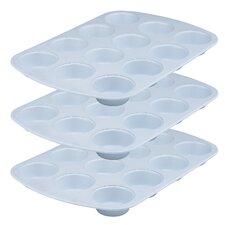 Cerama Bake 12 Cup Muffin Pan (Set of 3)