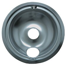 "6"" Small Drip Pan for GE Style B in Chrome"