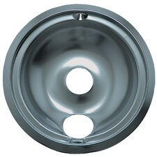 "8"" Large Drip Pan for GE Style B in Chrome"