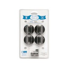 <strong>Range Kleen</strong> 4 Piece Gas Range Replacement Knob Set in Black
