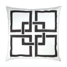 Linked Squares Embroidered Throw Pillow