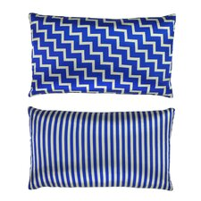 Stairs and Stripes Geometric Chevron Throw Pillow