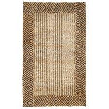 Cabana Braided Border Brown Rug