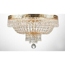 French Empire 4 Light Crystal Chandelier