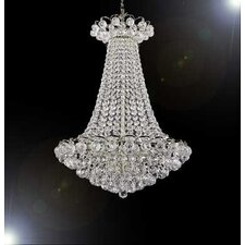 French Empire 9 Light Crystal Chandelier