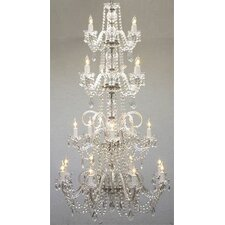 19 Light Crystal Chandelier