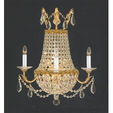 Empire 3 Light Crystal Wall Sconce
