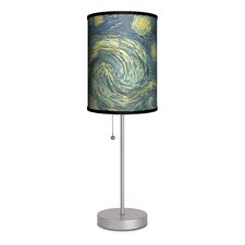 """Vincent Van Gogh """"Starry Night"""" 20"""" H Table Lamp with Drum Shade"""