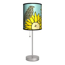 "Artist Cole Gerst ""Birds and Bees"" Table Lamp"