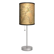 Travel Old World Map Table Lamp