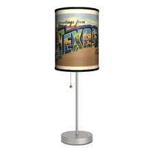 Travel Texas Postcard Table Lamp