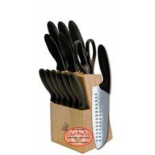 13 Piece Knife Set with Wood Storage Block