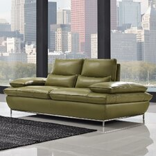 Naomi Leather Loveseat