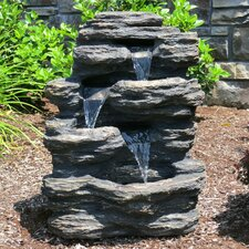 Resin and Fiberglass Rock Waterfall Fountain