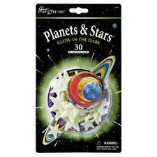 Great Explorations Glow in Dark Planets and Stars (Set of 30)
