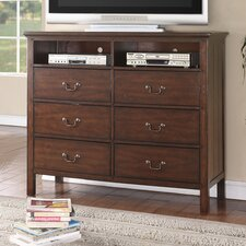 Forest Cove 6 Drawer Media Chest