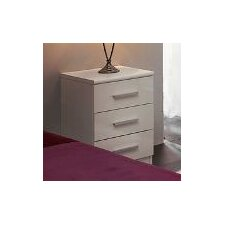 HE007 Ohio 3 Drawer Bedside Table