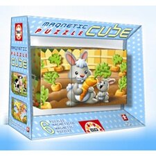 Six Magnetic Puzzle Cube - Animals
