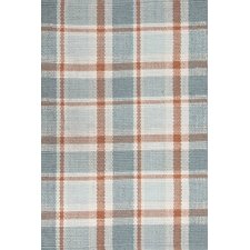 Scooter Blue Plaid Indoor/Outdoor Rug