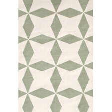 Lucy Moss Green/Beige Graphic Indoor/Outdoor Area Rug