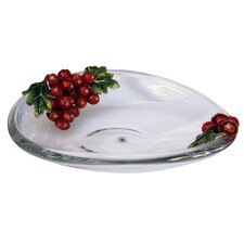 Limited Edition Decorative Crystal Plate with Apples