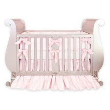 Silk 3 Piece Crib Bedding Set with Bows